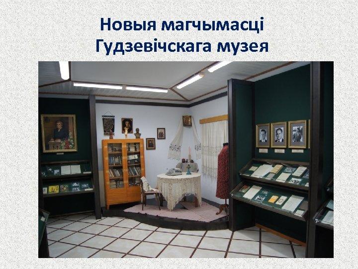 Новыя магчымасці Гудзевічскага музея