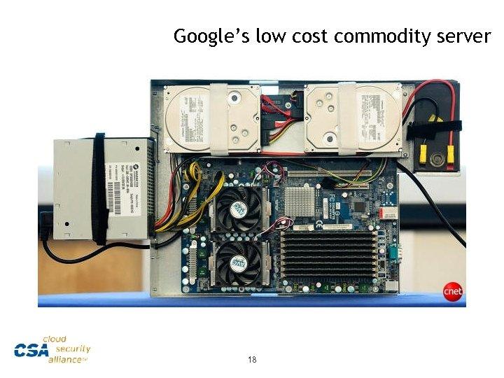 Google's low cost commodity server 18