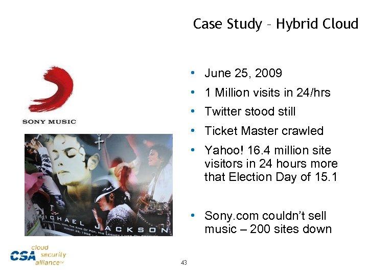 Case Study – Hybrid Cloud • June 25, 2009 • 1 Million visits in