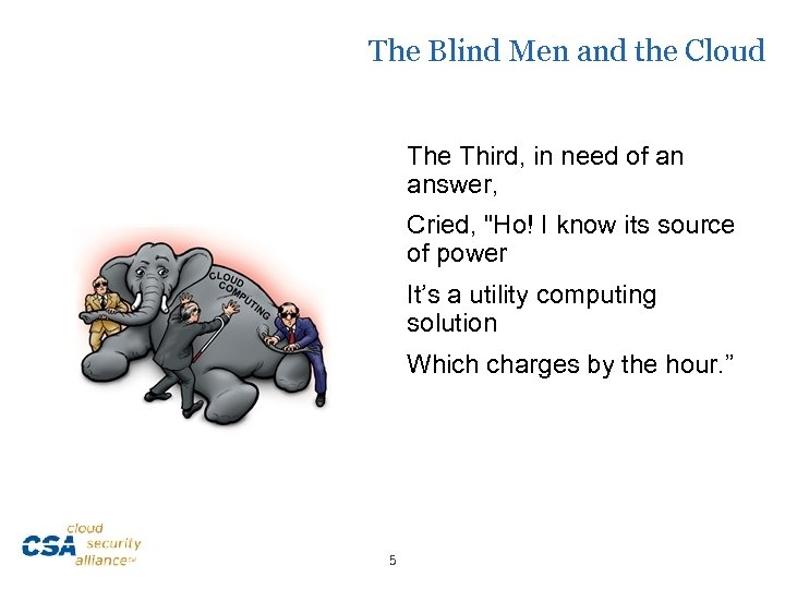 The Blind Men and the Cloud The Third, in need of an answer, Cried,