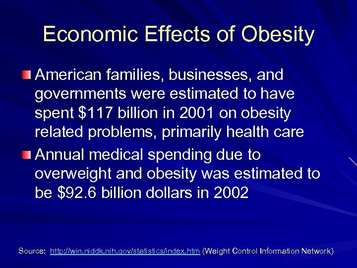 the effects of obesity on people around the world and the solutions to curb the problem Estimates suggest obesity cost the nhs £51 billion in 2006/07, including obesity medication, the increasing use of bariatric surgery and new equipment to accommodate larger people this is more than the £33 billion attributed to smoking related ill health and £33 billion attributed to alcohol related ill health.