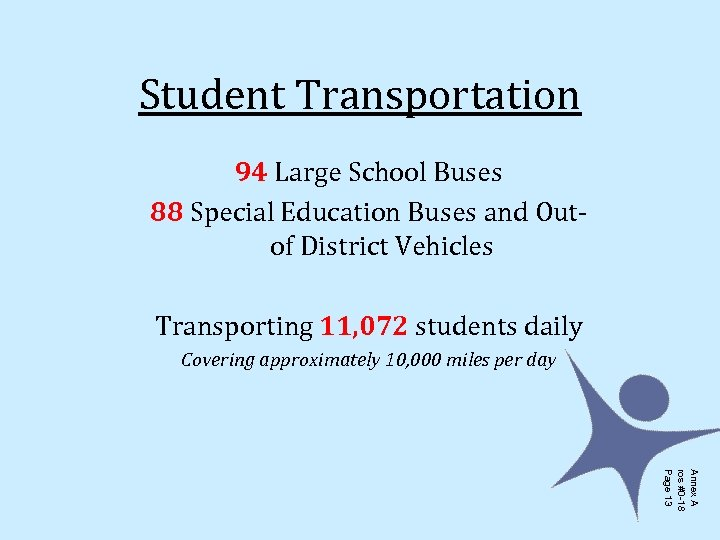 Student Transportation 94 Large School Buses 88 Special Education Buses and Outof District Vehicles