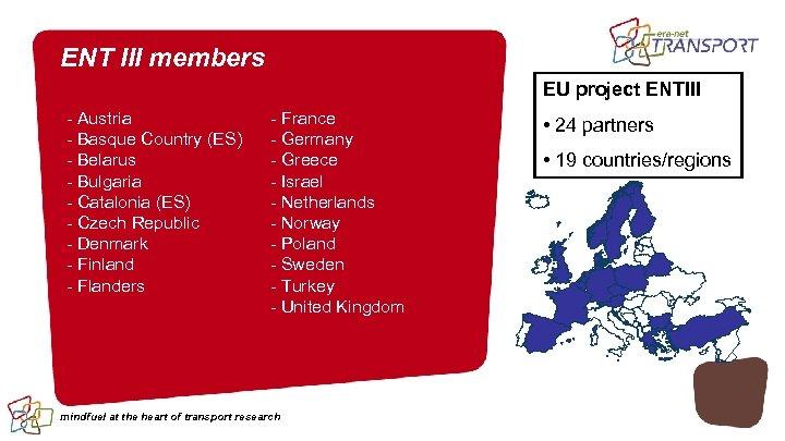 ENT III members EU project ENTIII - Austria - Basque Country (ES) - Belarus