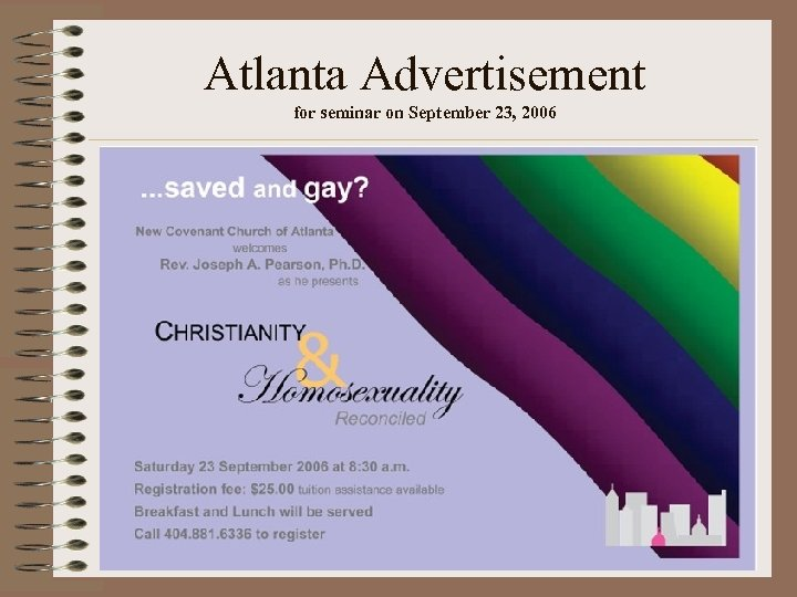 Atlanta Advertisement for seminar on September 23, 2006