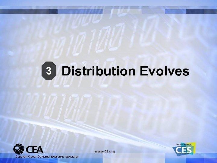 3 Distribution Evolves Copyright © 2007 Consumer Electronics Association