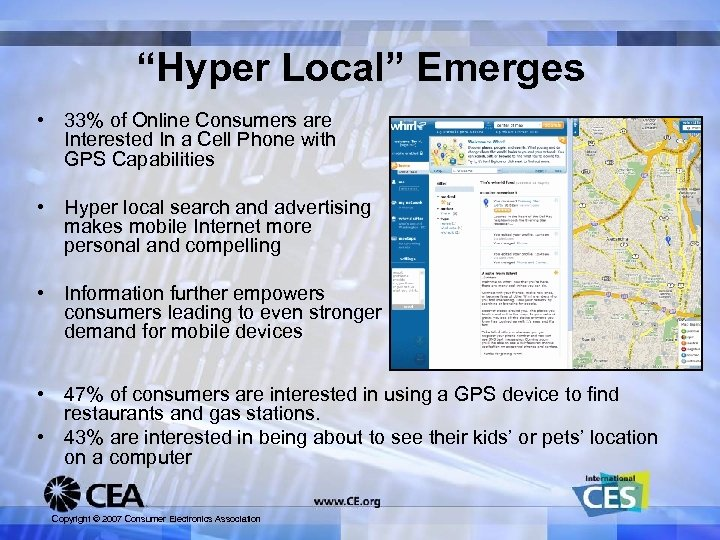 """Hyper Local"" Emerges • 33% of Online Consumers are Interested In a Cell Phone"