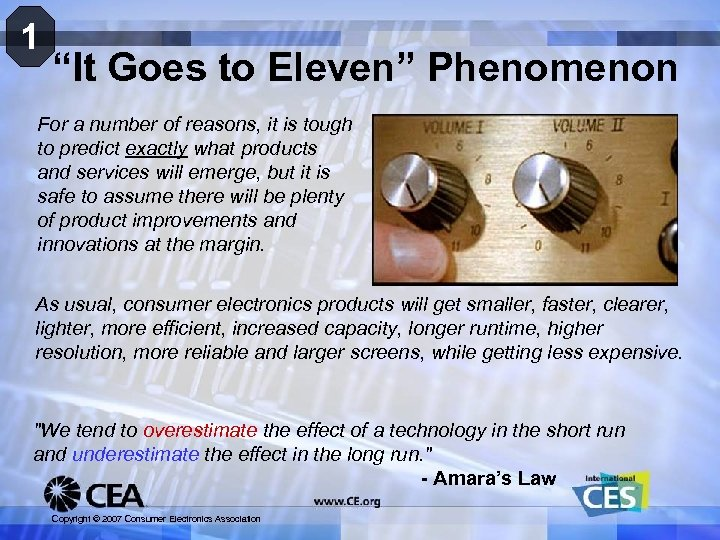 "1 ""It Goes to Eleven"" Phenomenon For a number of reasons, it is tough"