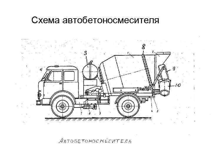 Схема автобетоносмесителя
