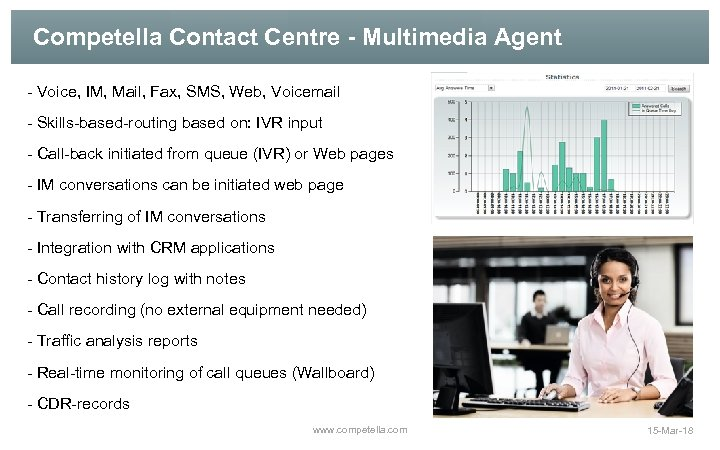 Competella Contact Centre - Multimedia Agent - Voice, IM, Mail, Fax, SMS, Web, Voicemail
