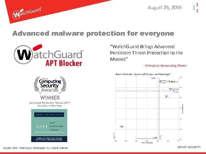 "August 25, 2015 Advanced malware protection for everyone ""Watch. Guard Brings Advanced Persistent Threat"
