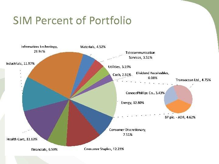 SIM Percent of Portfolio