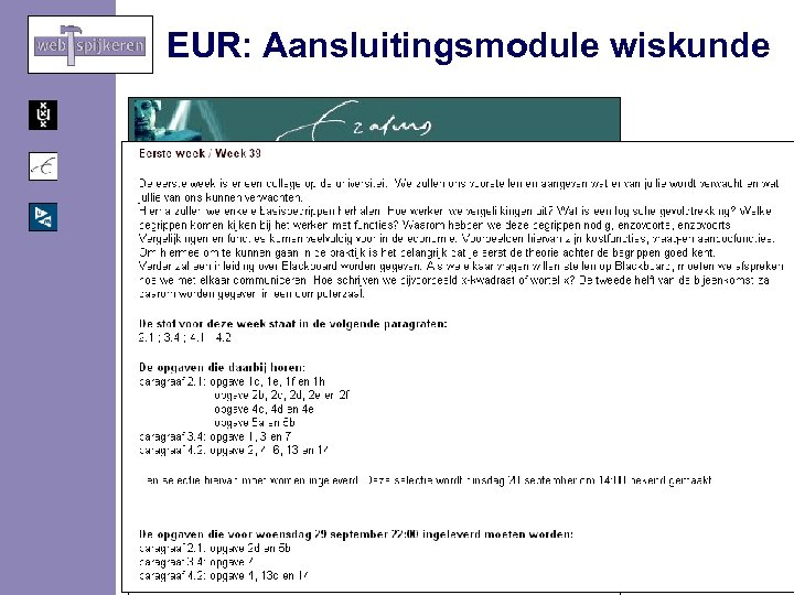 EUR: Aansluitingsmodule wiskunde