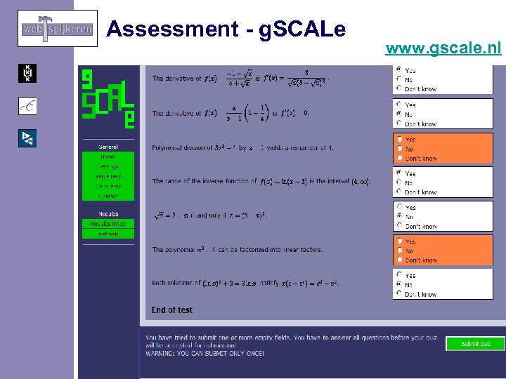 Assessment - g. SCALe www. gscale. nl