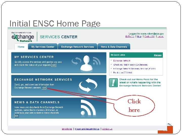 Initial ENSC Home Page Click here 28