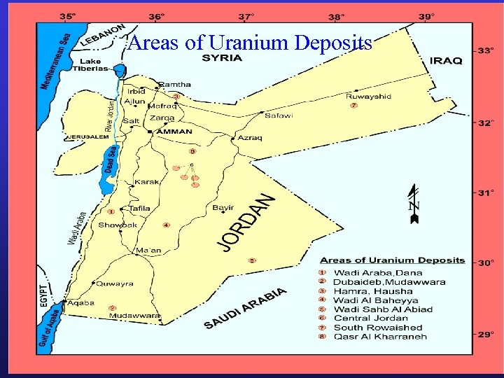 Areas of Uranium Deposits