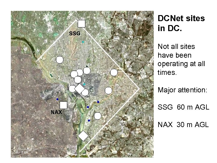 SSG DCNet sites in DC. Not all sites have been operating at all times.