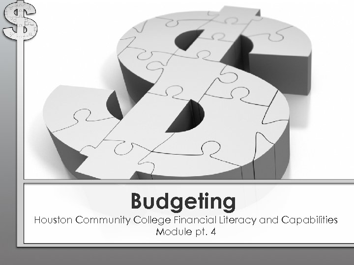 Budgeting Houston Community College Financial Literacy and Capabilities Module pt. 4