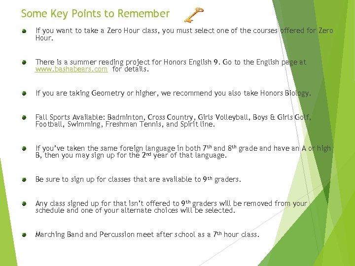 Some Key Points to Remember If you want to take a Zero Hour class,