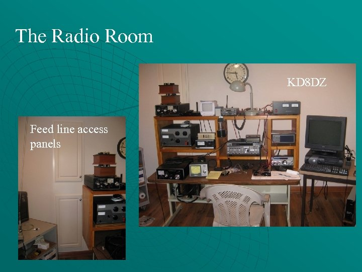 The Radio Room KD 8 DZ Feed line access panels