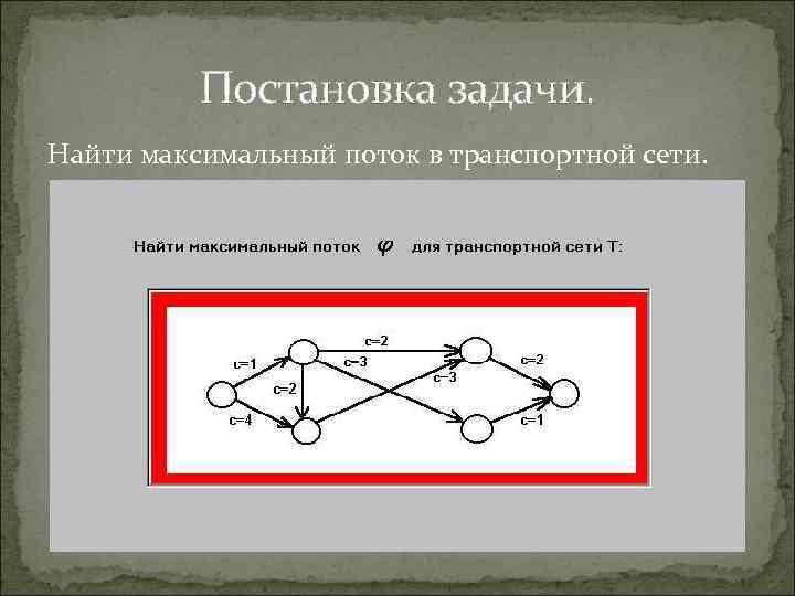 Алгоритм форда решения задачи о максимальном потоке алгоритм решения задач на спрос и предложение