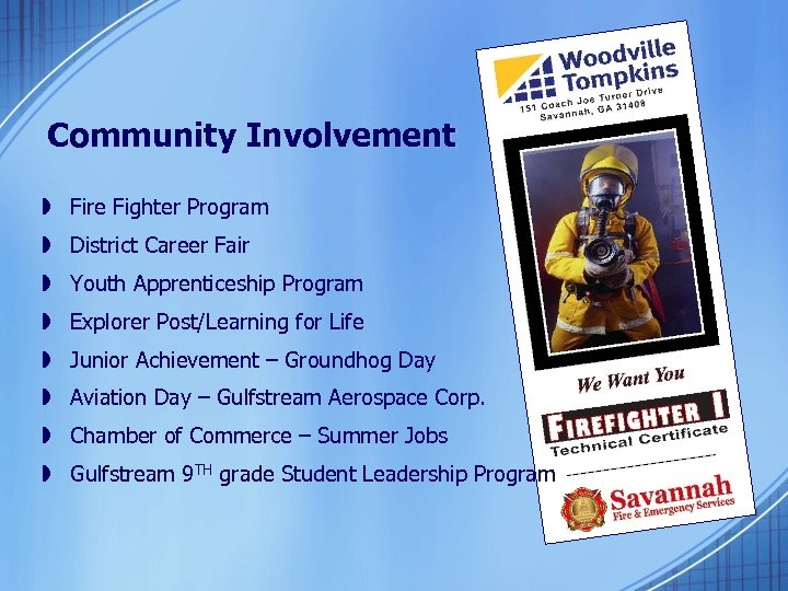Community Involvement » Fire Fighter Program » District Career Fair » Youth Apprenticeship Program