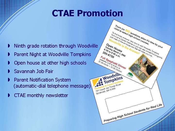 CTAE Promotion » Ninth grade rotation through Woodville » Parent Night at Woodville Tompkins