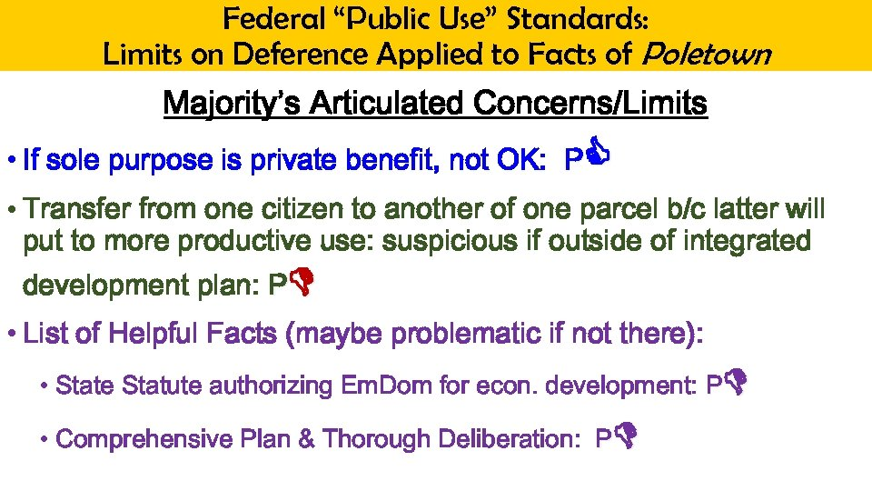 """Federal """"Public Use"""" Standards: Limits on Deference Applied to Facts of Poletown Majority's Articulated"""