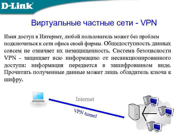 Виртуальные частные сети - VPN Имея доступ в Интернет, любой пользователь может без проблем