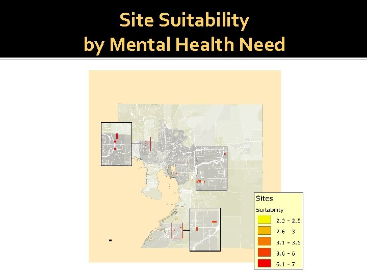 Site Suitability by Mental Health Need