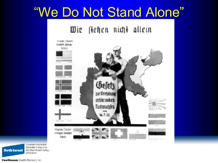"""""""We Do Not Stand Alone"""" Neues Volk, March 1, 1936, p. 37"""