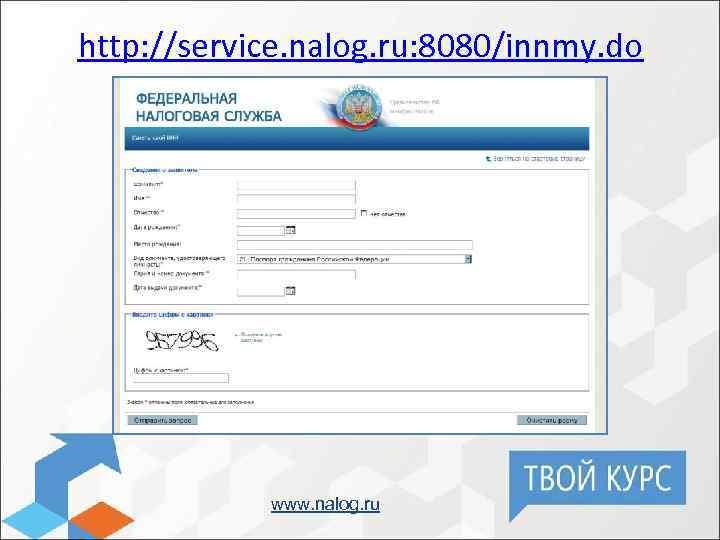 http: //service. nalog. ru: 8080/innmy. do www. nalog. ru
