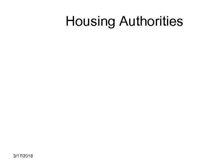 Housing Authorities 3/17/2018