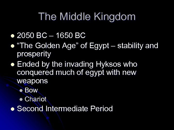 "The Middle Kingdom 2050 BC – 1650 BC l ""The Golden Age"" of Egypt"