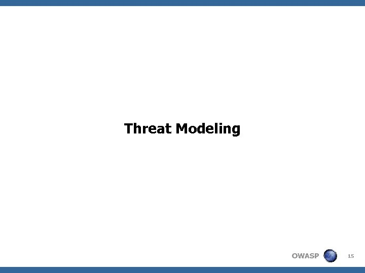 Threat Modeling OWASP 15