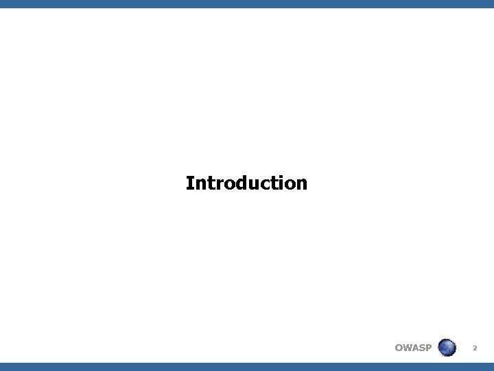 Introduction OWASP 2
