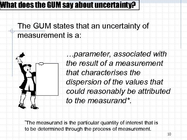 What does the GUM say about uncertainty? The GUM states that an uncertainty of