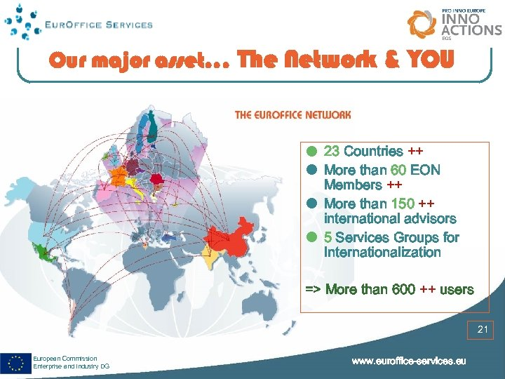 Our major asset. . . The Network & YOU 23 Countries ++ More than