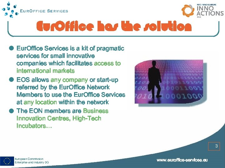 Eur. Office has the solution Eur. Office Services is a kit of pragmatic services