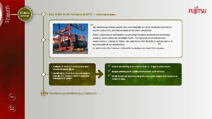 "Abu Dhabi Ports Company (ADPC) | United Arab Emirates "" We needed a technology"
