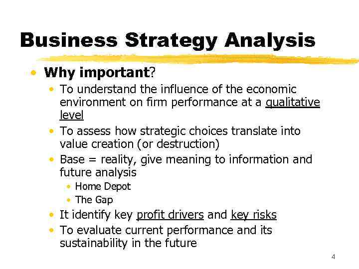 strategy analysis A strategic analysis is an evaluation of a corporate process or plan to determine how future programs can be made more effective examples of strategic analysis include the strengths, weaknesses, opportunities and threats analysis or the five forces analysis.