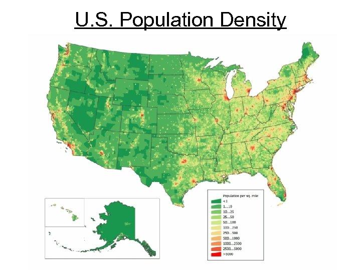 U. S. Population Density