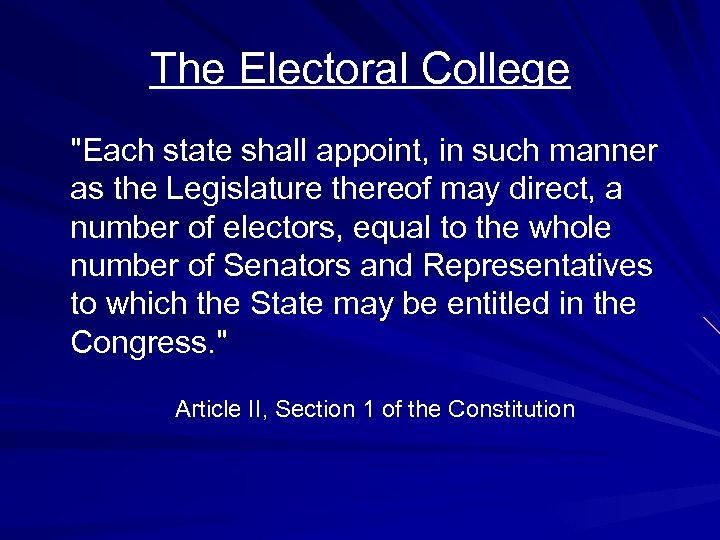 electoral college quiz Your account isn't verified in order to create a playlist on sporcle, you need to verify the email address you used during registration go to your sporcle settings to finish the process.