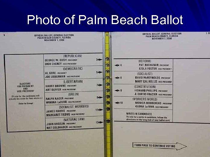 Photo of Palm Beach Ballot