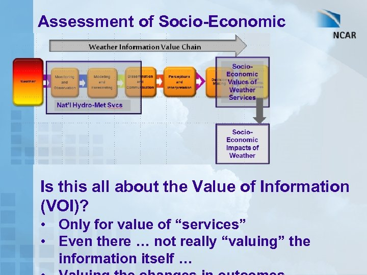 Assessment of Socio-Economic Benefits – How? Is this all about the Value of Information