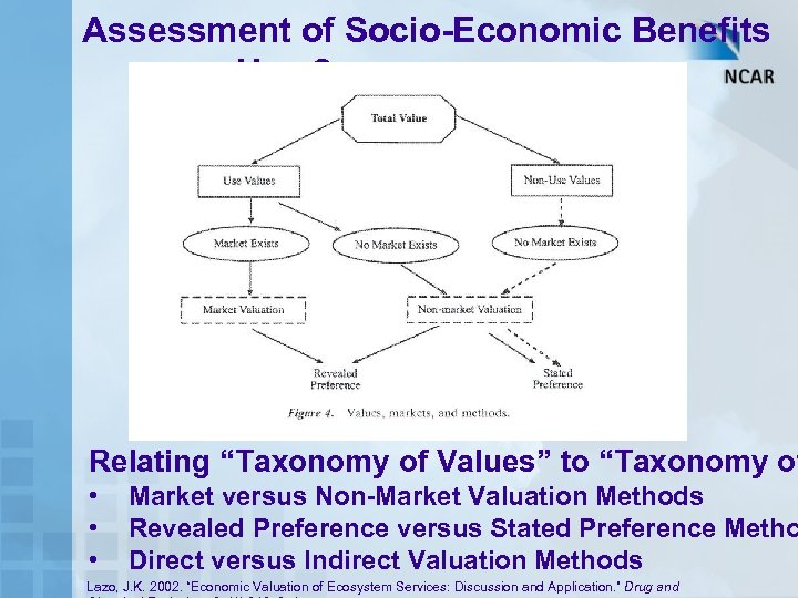 "Assessment of Socio-Economic Benefits – How? Relating ""Taxonomy of Values"" to ""Taxonomy of •"