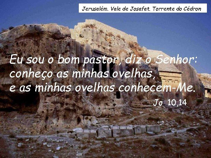 Jerusalém. Vale de Josafat. Torrente do Cédron Eu sou o bom pastor, diz o