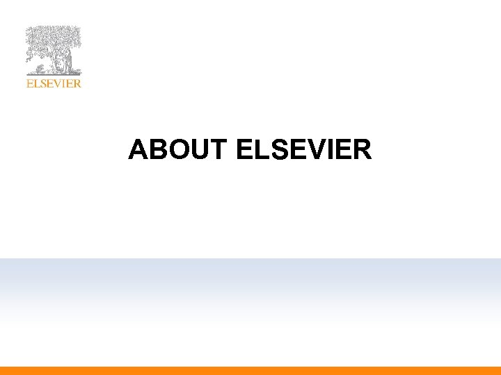 ABOUT ELSEVIER