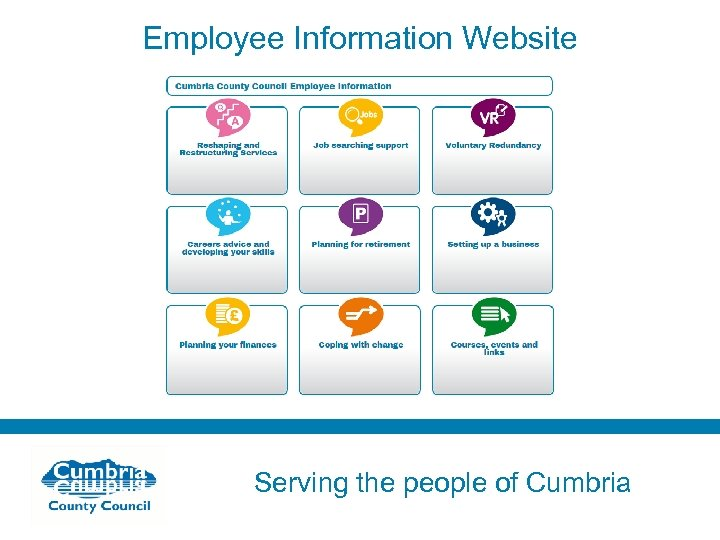 Employee Information Website Serving the people of Cumbria