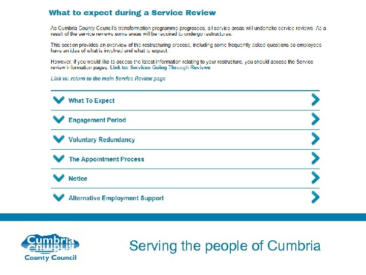 Serving the people of Cumbria