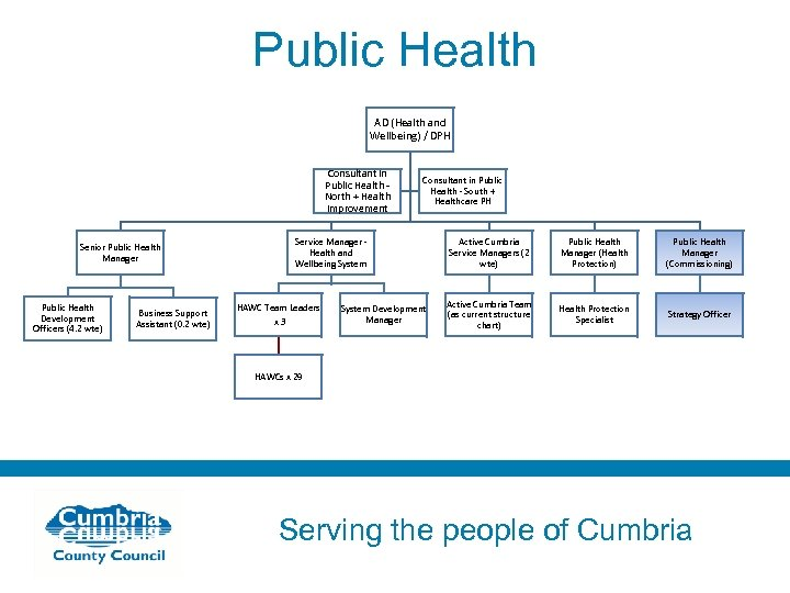 Public Health AD (Health and Wellbeing) / DPH Consultant in Public Health North +